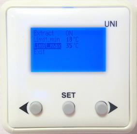 Пульт: кнопками LEFT или RIGHT затемнённой строкой выбрать LIMIT-MAX, нажать SET